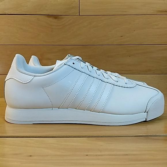 e90560403 Adidas Samoa Size 10 Triple White Men Shoe Sneaker